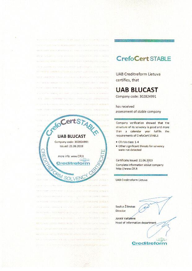 CREFO CERT certificate 543kb