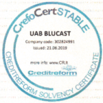 CrefoCertStable Blucast stamp