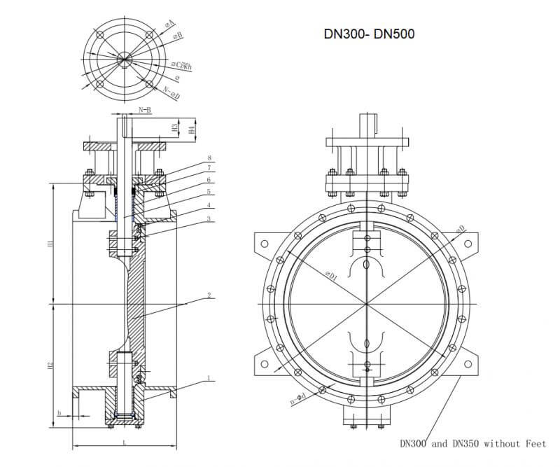 DOUBLE ECCENTRIC BUTTERFLY VALVE.