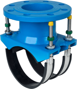 Flange Saddle With SS Band for DI pipes