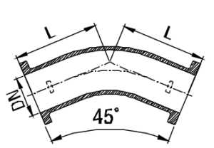 LF 45 Bend Drawing